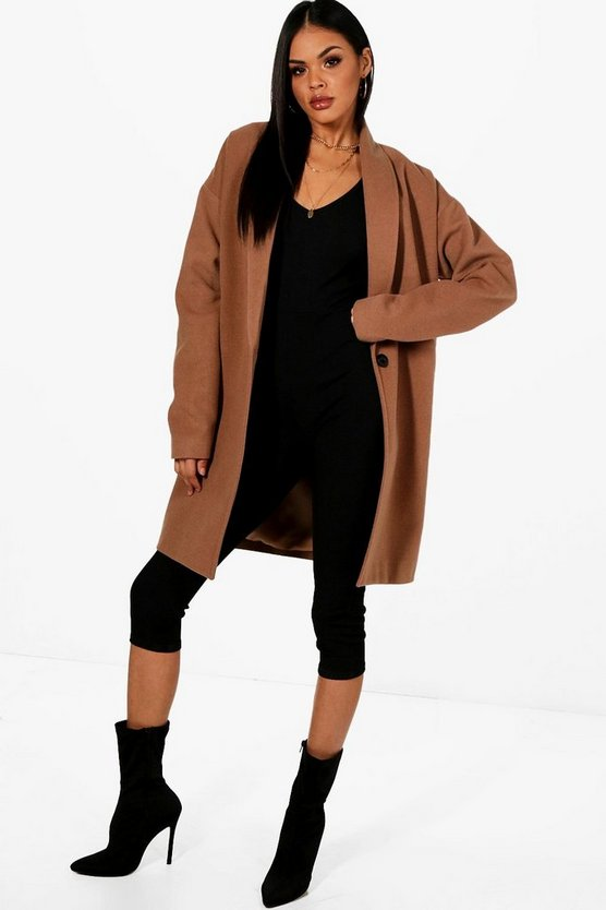 Oversized Wool Look Coat