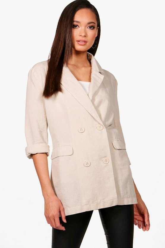Daisy Double Breasted Linen Blazer