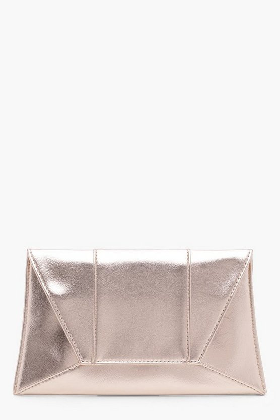 Panelled Envelope Clutch