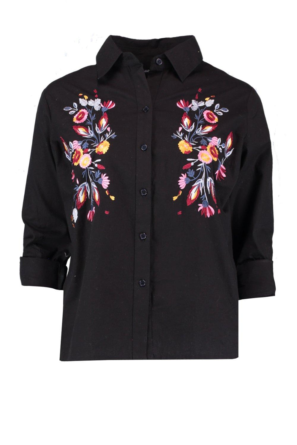 Woven Woven black Shirt Shirt Embroidered Embroidered Woven Embroidered Woven Shirt Embroidered black black A0SBwxqT