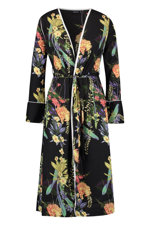 Belted black Dark Dark Kimono Dark Floral Floral Kimono Belted Floral black Floral Belted black Dark Kimono Belted Bxxwaq