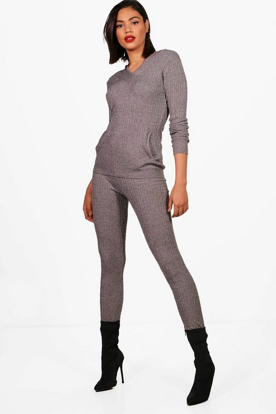 Cable Knit Loungewear Set