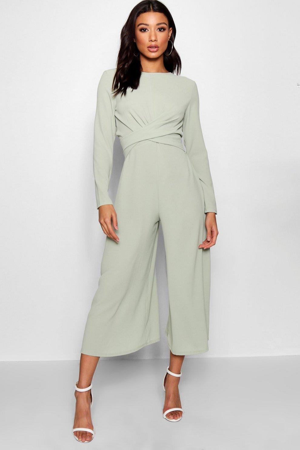 d50b4d7d982 Knot Front Culotte Jumpsuit