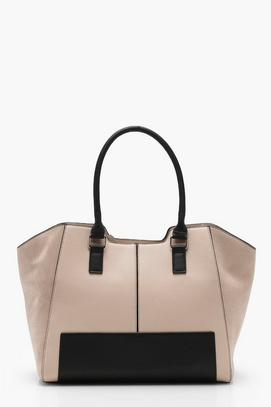Colour Block Winged Tote