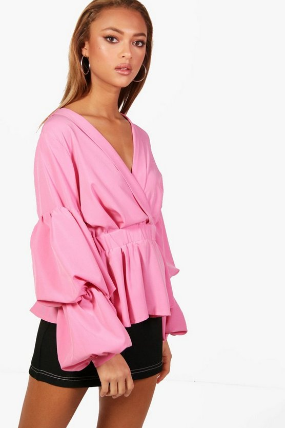 Rouched Sleeve Shirt
