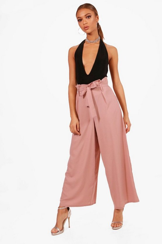 Rachael Boutique Wide Leg Paperbag Waist Trouser
