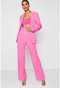 Womens Pink Wide Leg Pants