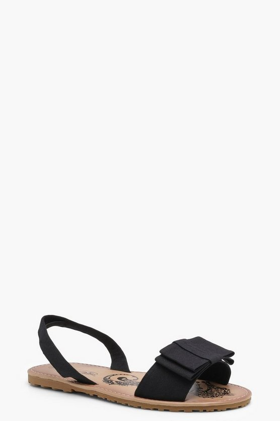 Bow Detail Sling Back Flats