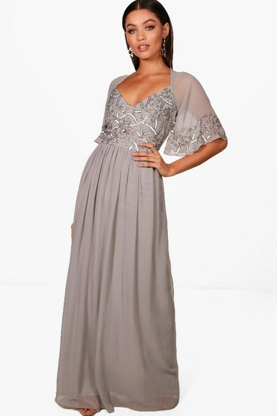 Grey Boutique  Embellished Maxi Dress