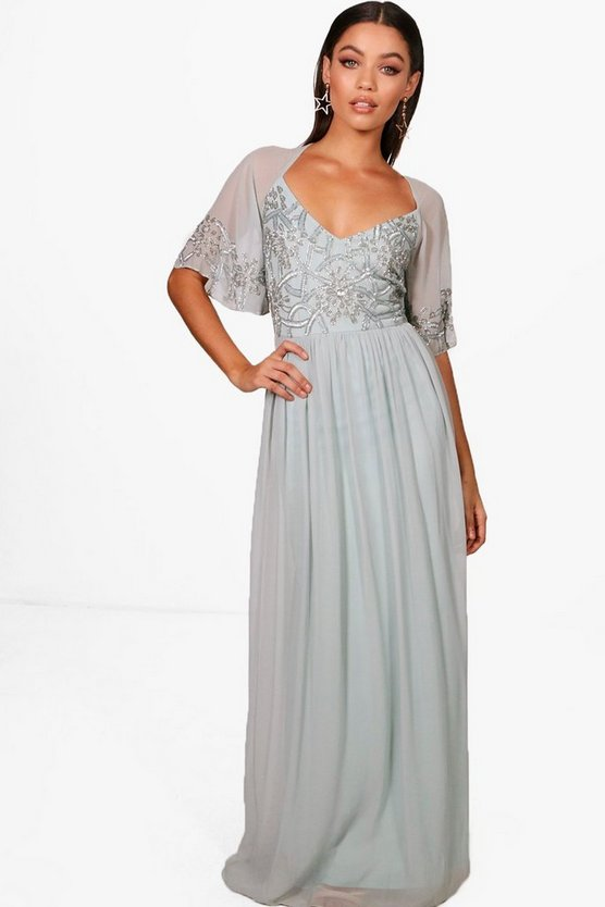 Boutique  Embellished Maxi Dress