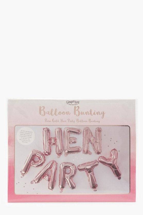 Womens Rose gold Ginger Ray Hen Party Balloon Bunting