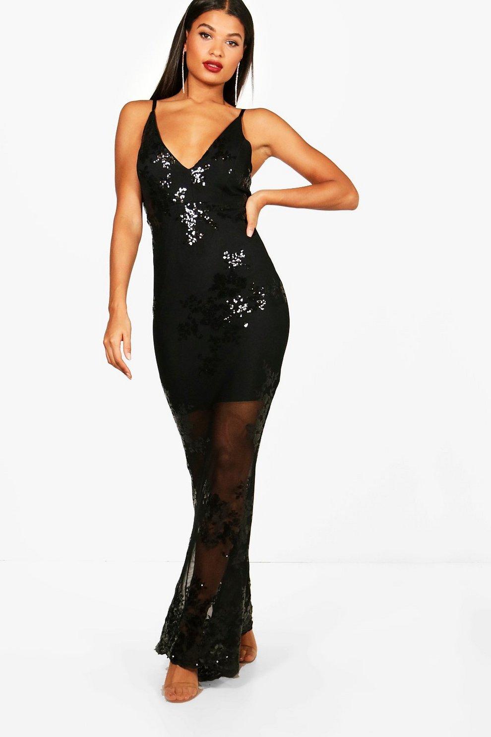 8d2d7aa7e25 Boutique Sequin Mesh Maxi Dress