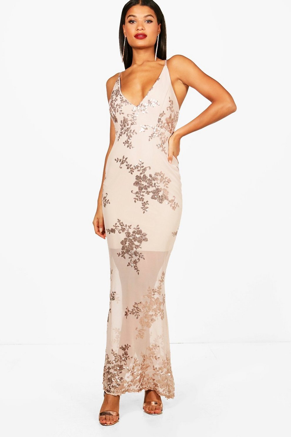 8f812aff3b7 Boutique Sequin Mesh Maxi Dress