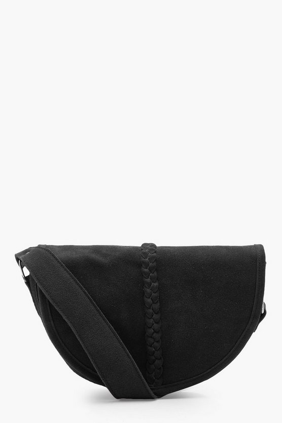 Real Suede Semi Circle Cross Body