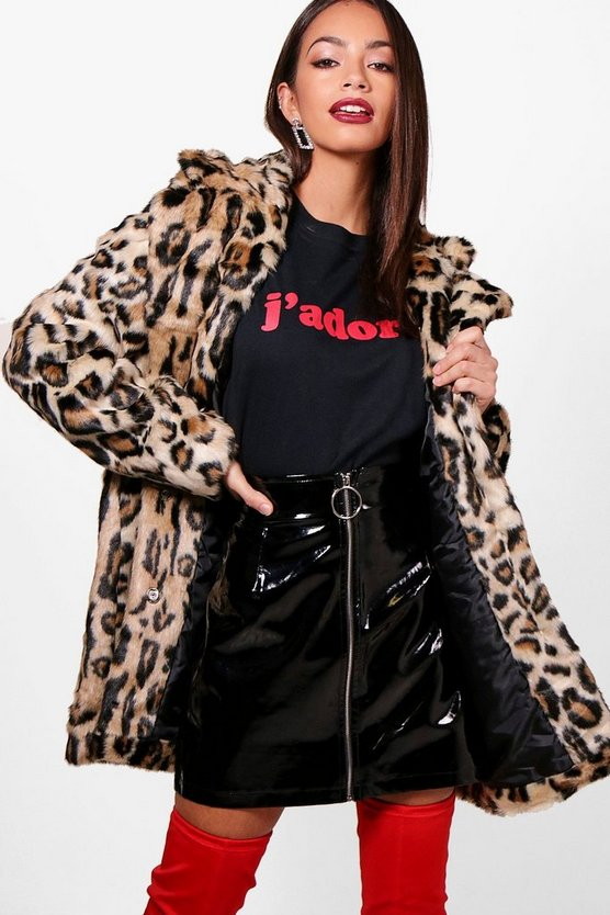 Lexi Leopard Faux Fur Coat