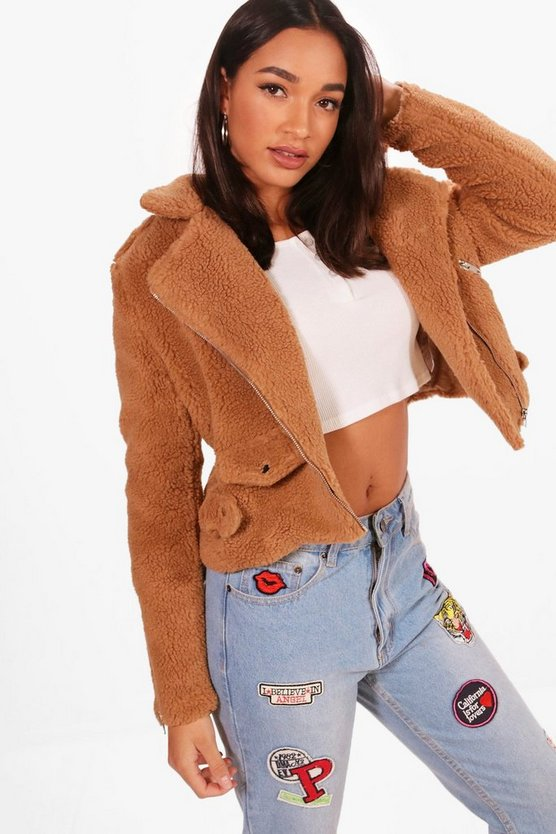 Teddy Faux Fur Biker