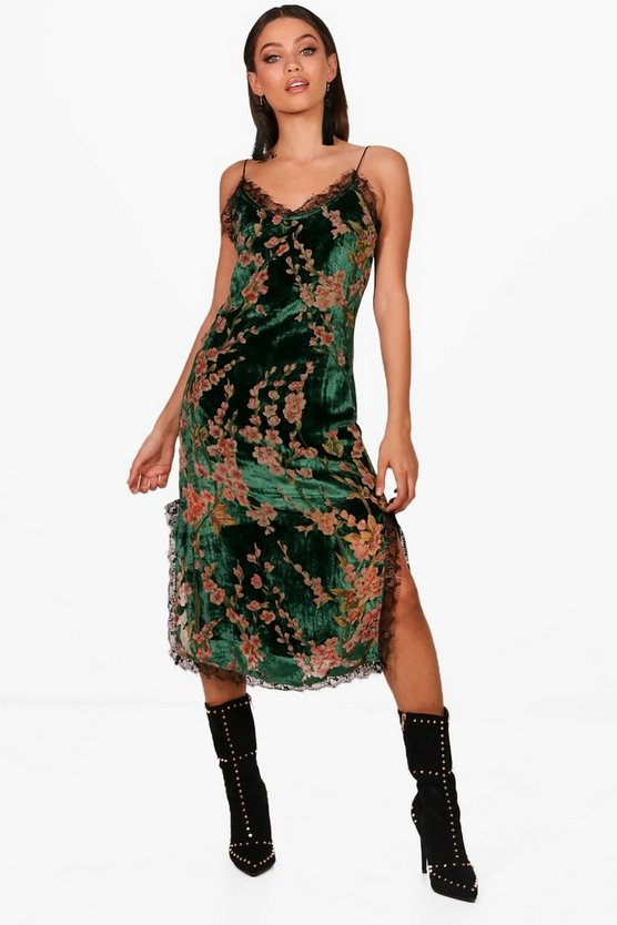 Velvet Devore Cami Dress