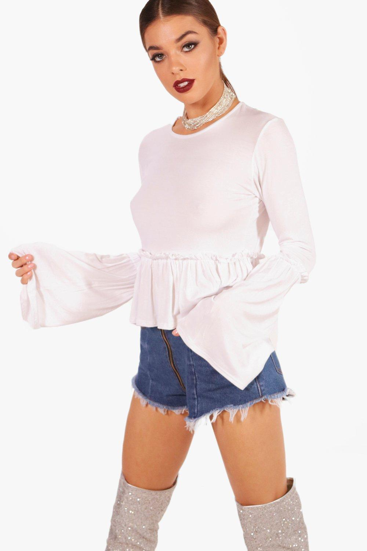 Boohoo-Jane-Micro-Ruffle-Flare-Sleeve-Top