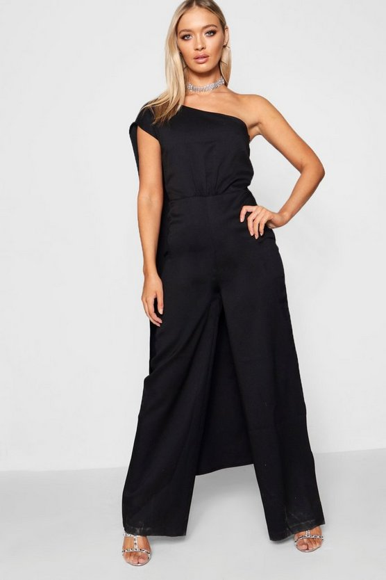 Boutique Asymmetric Drape Jumpsuit