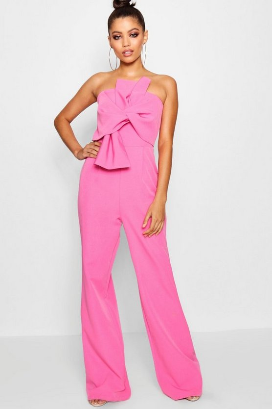 Boutique Bow Front Occasion Jumpsuit