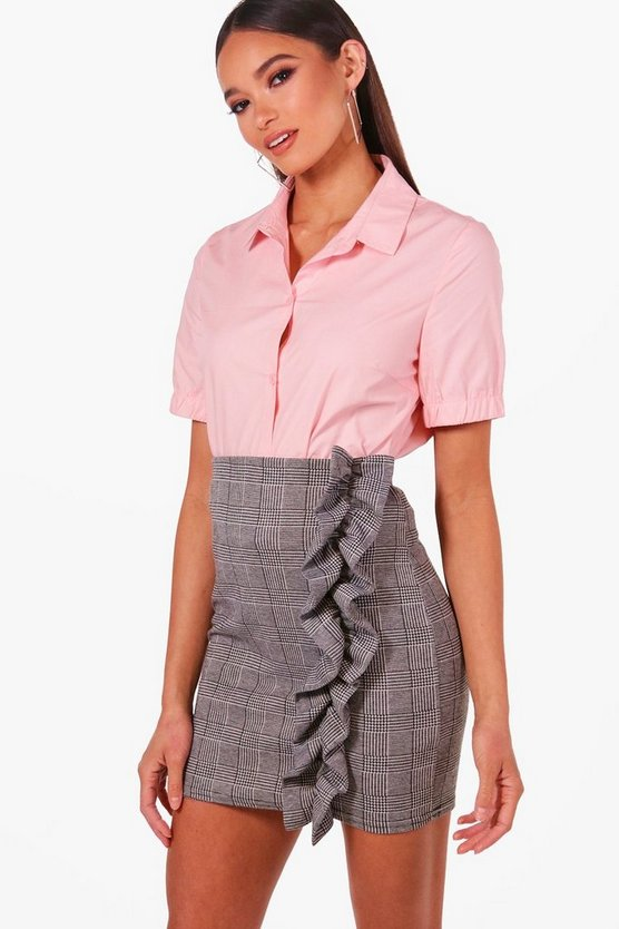 Short Sleeve Shirt, Pink, Donna