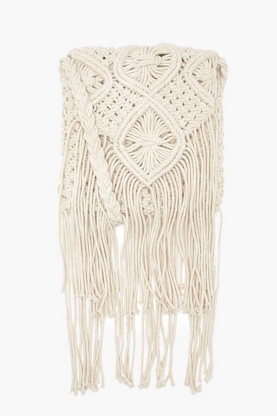 Eleanor Crochet Tassel Cross Body