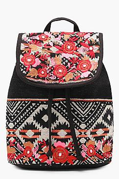 Zoe Embroidery Aztec Backpack