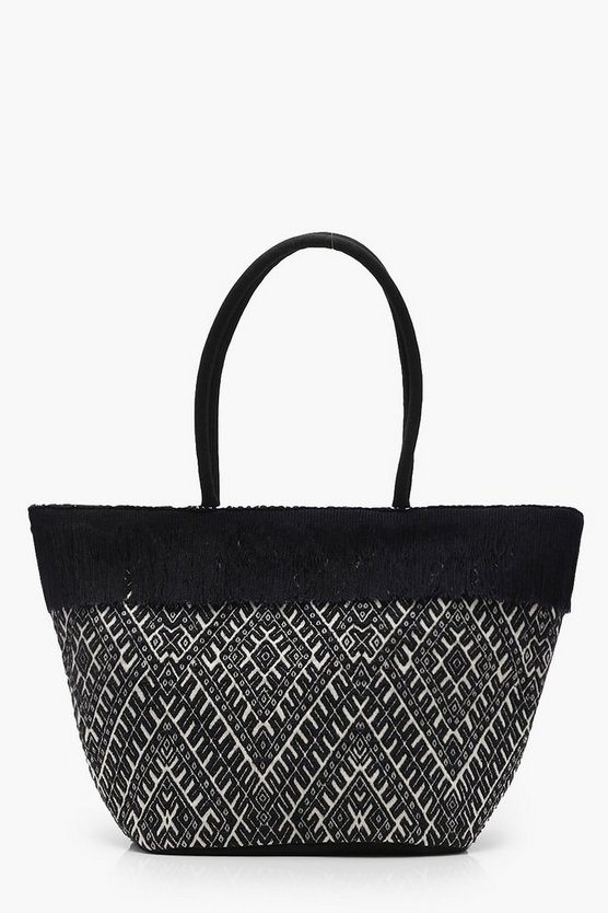 Fringe Top Bucket Beach Bag