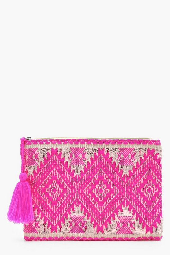 Sparkle Aztec Clutch