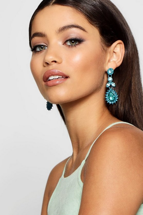 Bright Diamante Statement Earrings