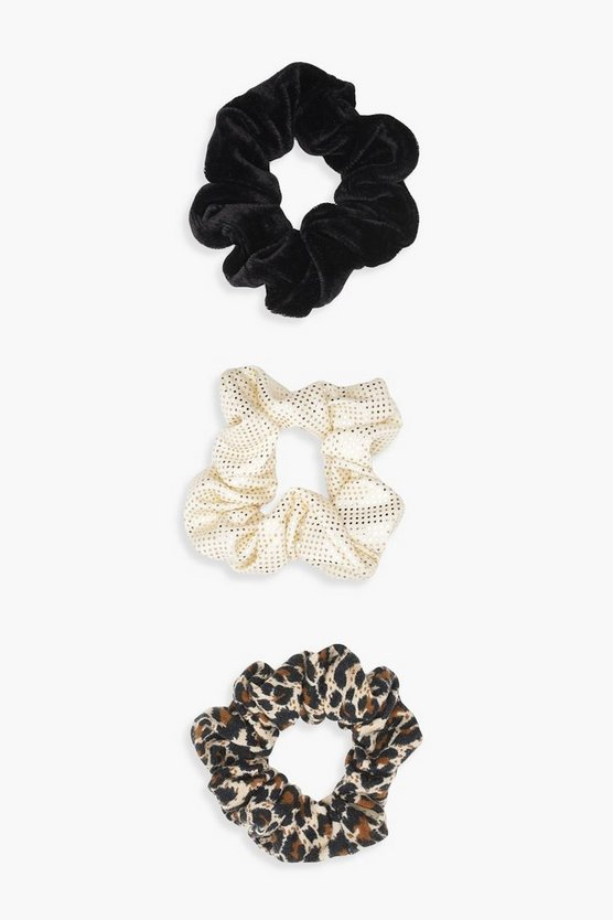 Leopard 3 Pack Scrunchies