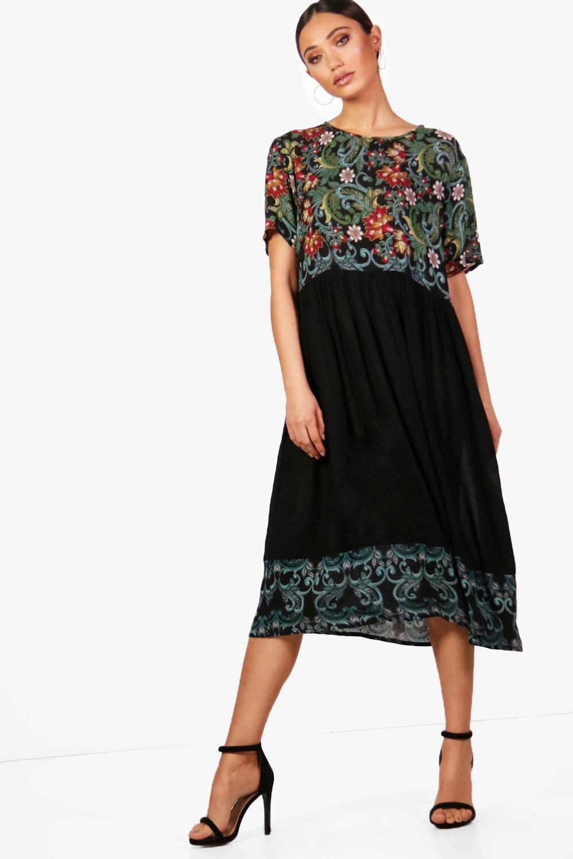 Floral Printed Smock Dress