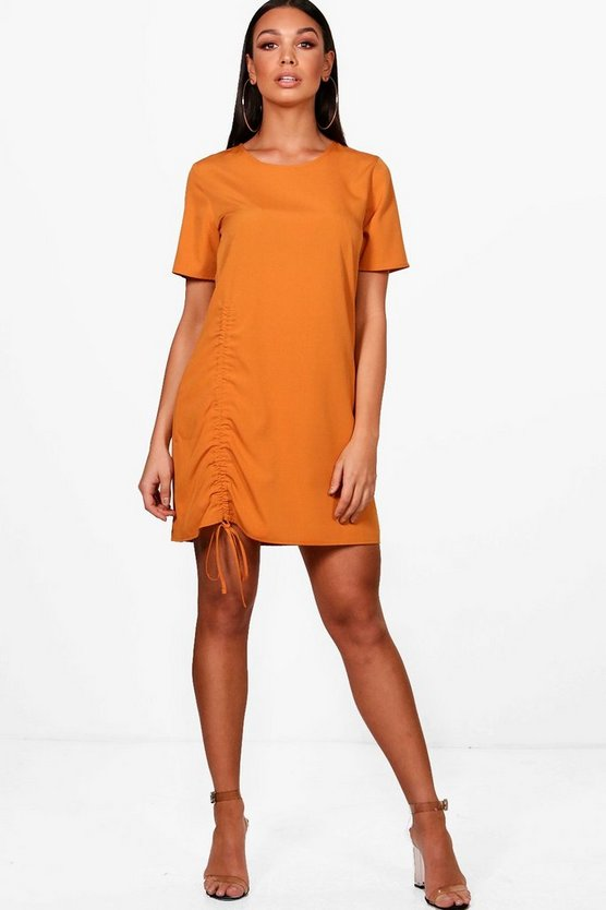 Ruched Side Shift Dress