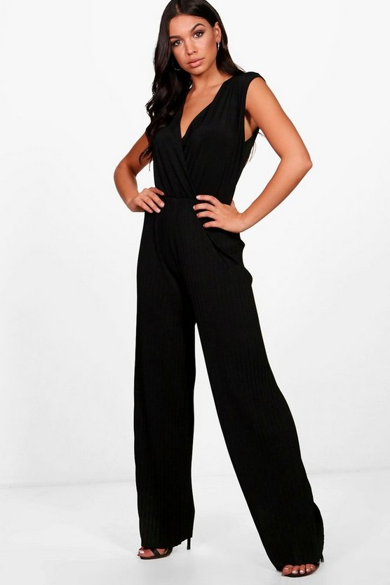 Pleated Plunge Jumpsuit