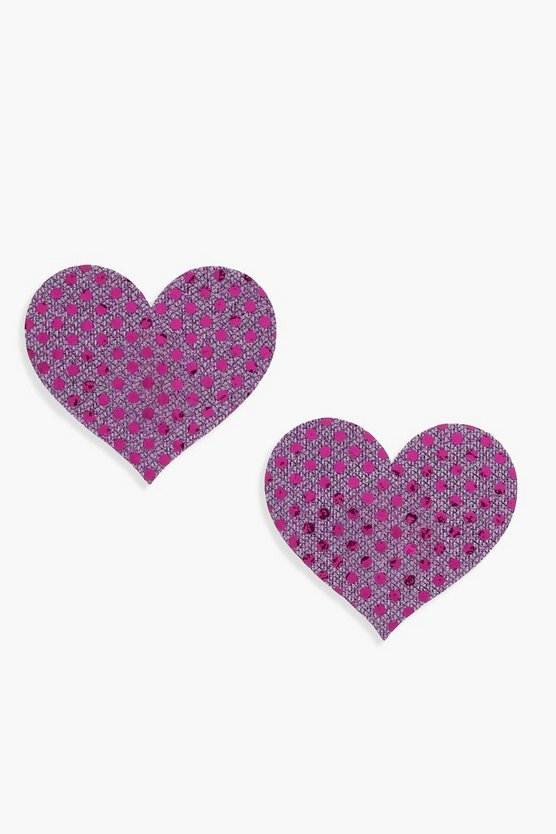Sequin Heart Nipple Covers