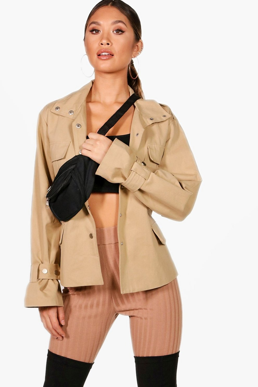 2e3ff335b41 Becky Belted Utility Jacket