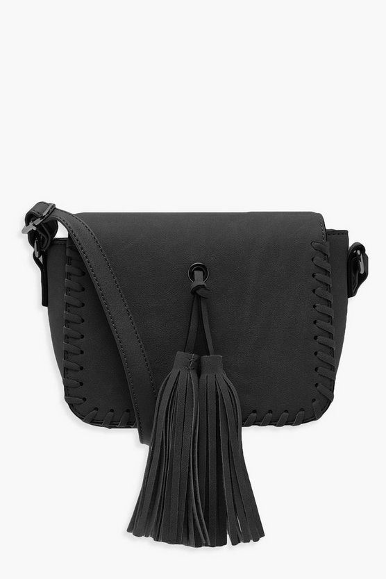 Mia Whip Stitch & Tassel Cross Body Bag