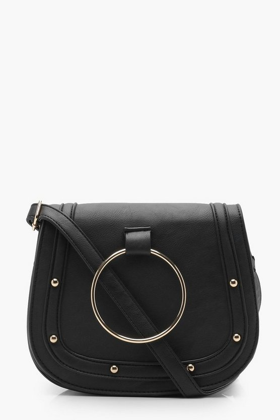Ring & Stud Saddle Bag