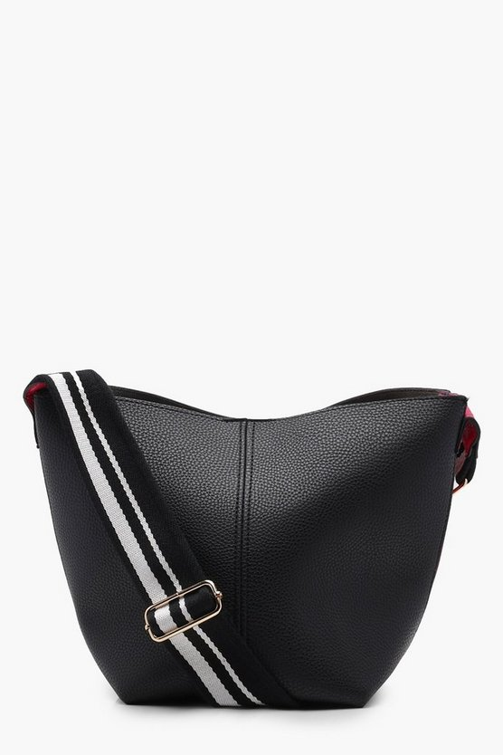 Sports Strap Contrast Sides Cross Body