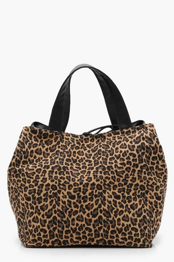 Lily Oversized Leopard Day Bag