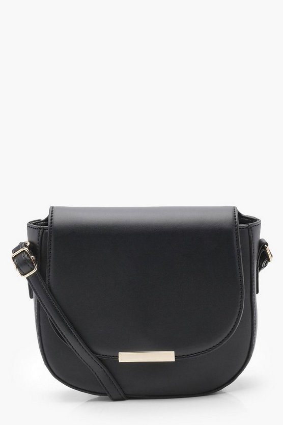 Jenna Structured Saddle Bag