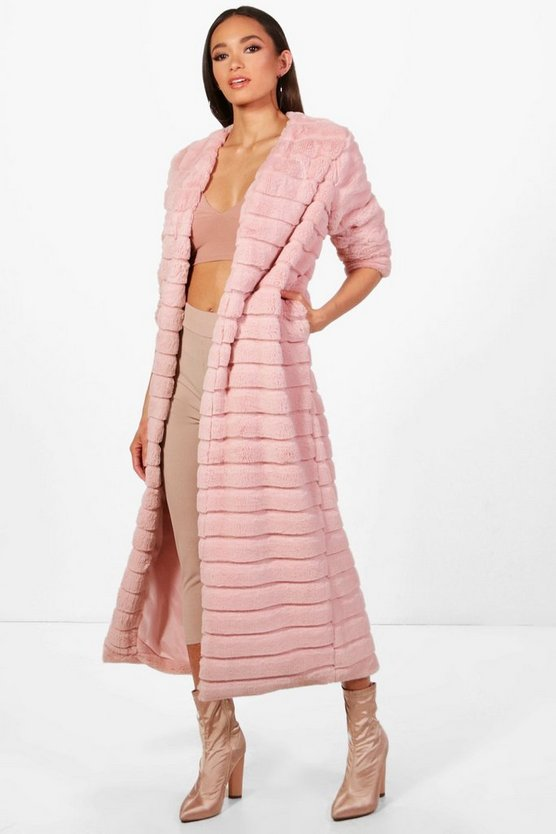 Lara Panelled Faux Fur Coat