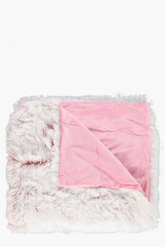Soft Touch Fluffy Fleece Lined Throw