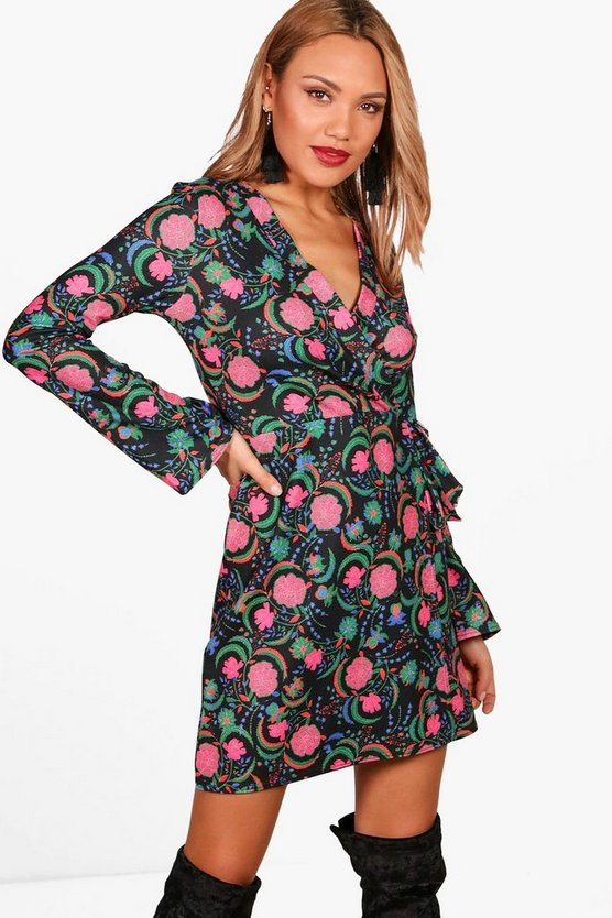 Melissa Floral Wrap Dress