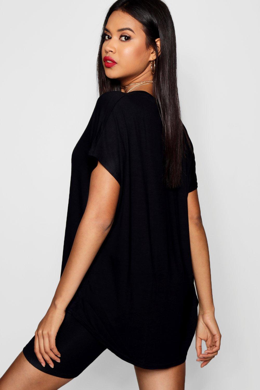 Basic Basic T Oversized black Oversized black Shirt Shirt Basic T Oversized Ytx6XU