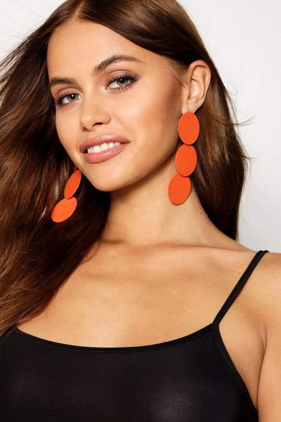 Statement Tiered Circle Plate Earrings