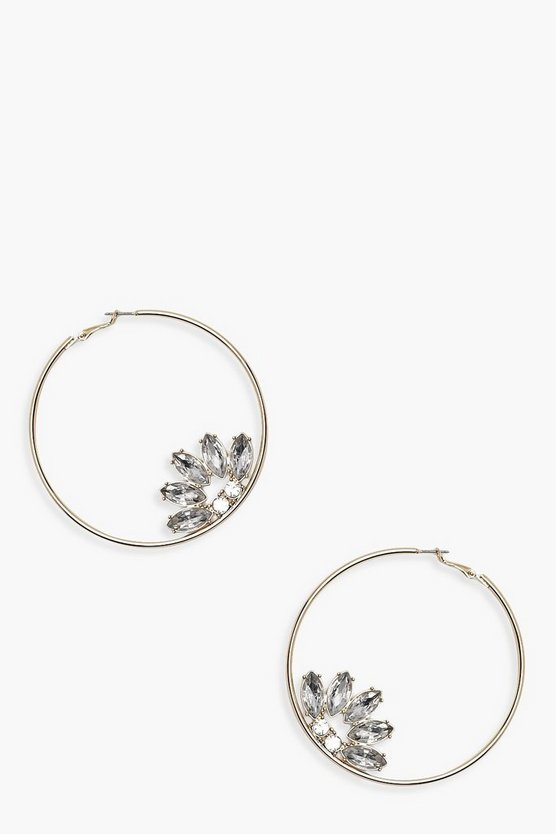 Diamante Detail Oversized Hoops