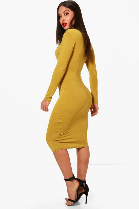 Sweetheart Long Sleeved Bodycon Dress
