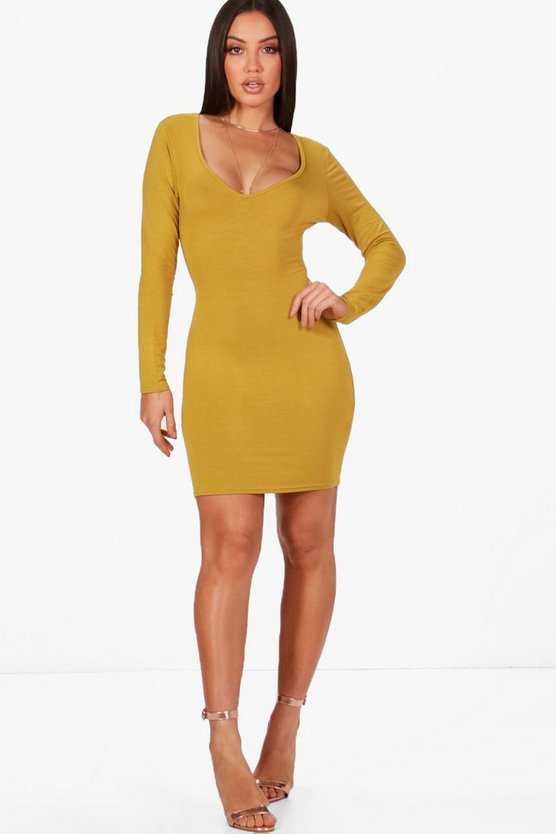 Regan Sweetheart Long Sleeved Bodycon Dress