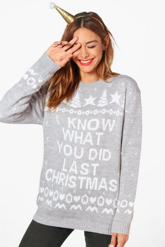 'I Know What You Did' Christmas Jumper